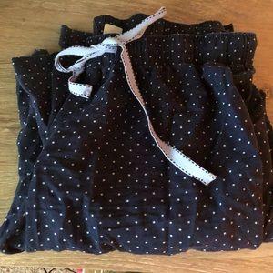 Polka dot pajama bottoms